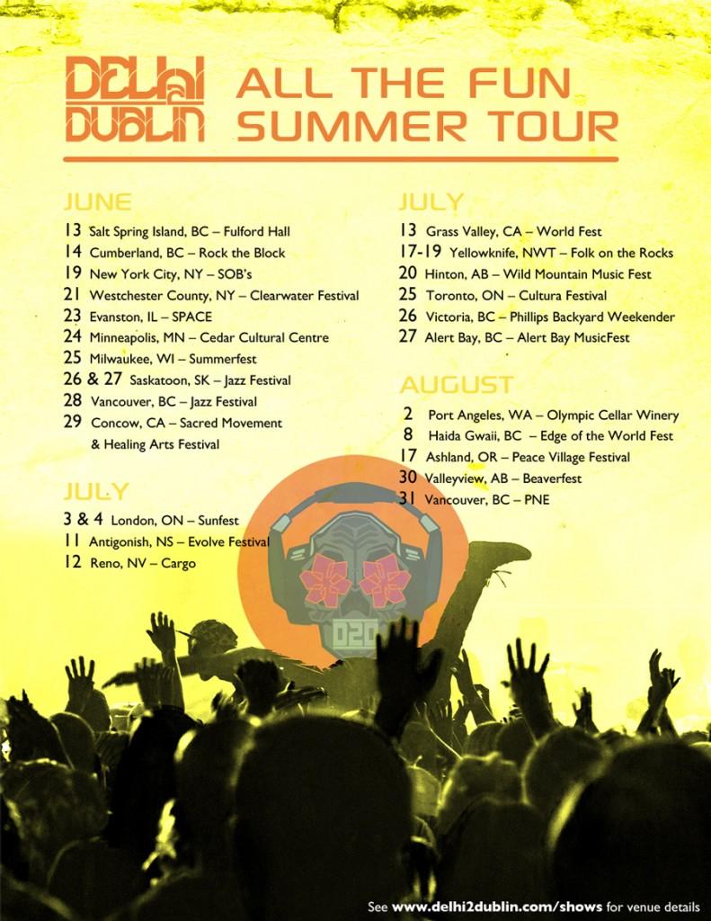 Delhi 2 Dublin summer 2014 tour poster