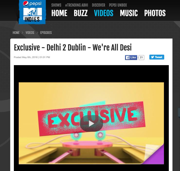 Delhi 2 Dublin MTV Indies